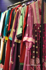 Clothing being sold from all sorts of different cultures!