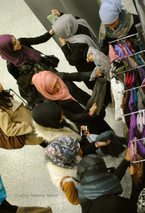 Browsing the many hijabs!