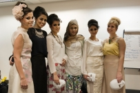 Backstage at the SnS Fashion Show; Zinah and her models